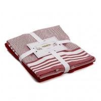 Набор полотенец для кухни Flat красный 2шт