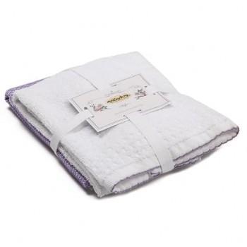 Набор полотенец для кухни Kusgozu фиолетовый 2шт