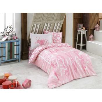Постельное белье HOBBY поплин Love розовое